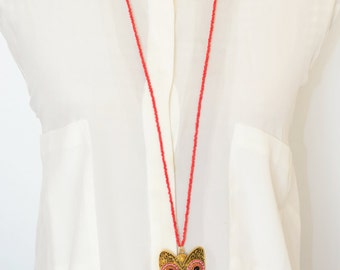 Red Owl Multicolor Necklace