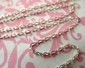 Shop Sale..6 feet, Sterling Silver Chain, Necklace Chain, Elongated Drawn Cable, 2x1 mm, wholesale delicate dainty SS..S90..hp