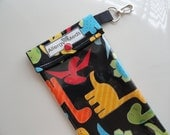 Dinosaurs Epi Pen Pouch Clear Pocket and Swivel Clip Holds up to 2+ Epi Style Injector Pens Medical ID Card Included - You Choose Size