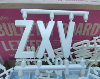 vintage letters lot, 81 bulletin board letters, art and craft supplies, 1980, 2 inches high