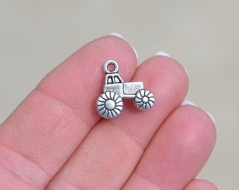 BULK 50  Silver Tractor Charms SC1375