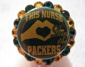 Retractable ID Badge Holder, Nursing Badge Holders, Nurse Badge Reels, ID Card Holder Packers Nurse using Swarovski Elements