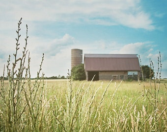 Barn Photography, Rustic Photograph, Cottage Decor, Country Decor, Farmhouse, Summer, Colorful Photograph, Nature Photography, Landscape