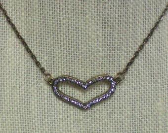 Crystal Brass Heart