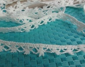 "1/2"" Wide White Picot Lace Trim, Flat Lace Trim, Crochet Lace, 1/2"" (1 cm) Wide Lace Trim, Craft Lace Trim, 13 Yards"