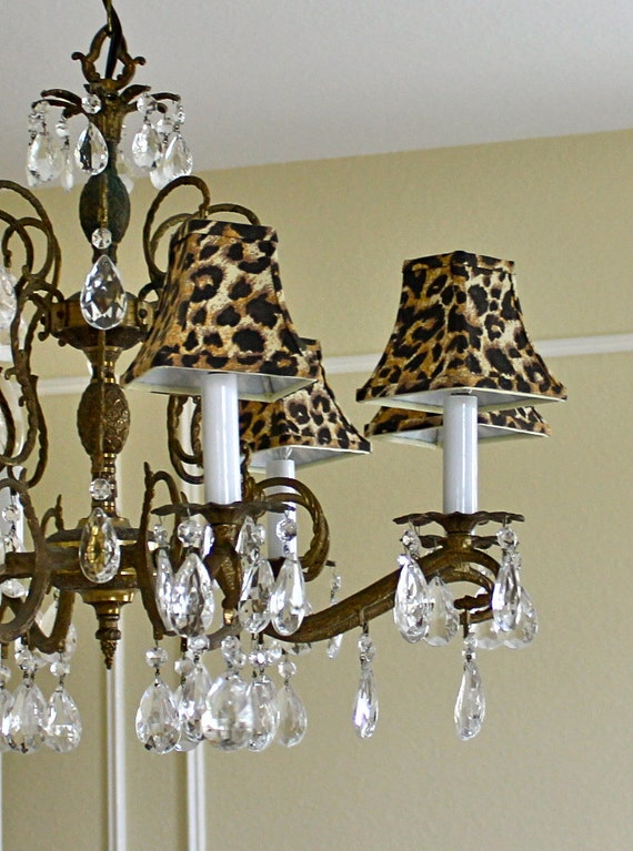 Reserved For Missislandgirl81 Leopard Chandelier Set Of 5