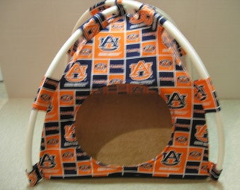 Large Handmade College Auburn Tigers Pup Tent Pet Bed for cats/ dogs/ferrets/ piggies/ A Toy Box / Barbie Doll House
