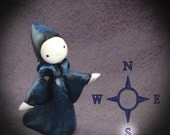 Night Moon Sisters SOUTH  Mini Poppet by Lisa Snellings