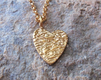 gold heart necklace layering necklace gold plated sterling silver heart pendant charm bridal necklace gift for her mothers day love necklace