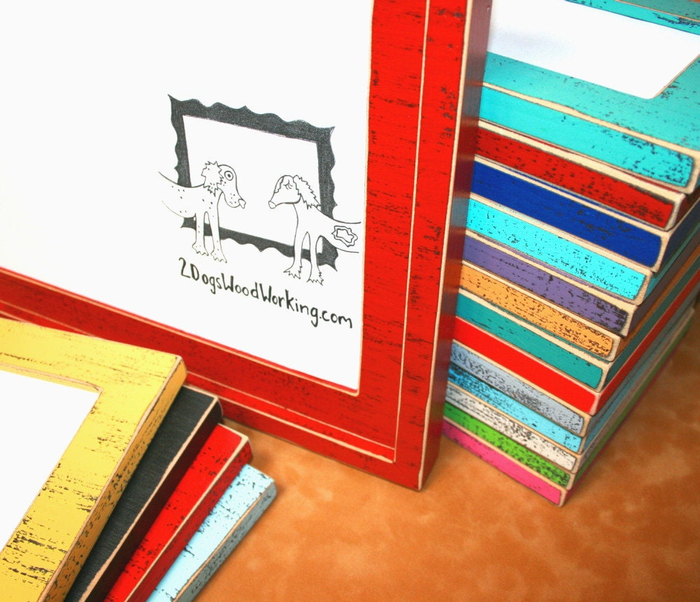Colored picture frame 11x17 photo Frame weathered frame