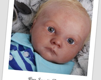 Reborn Baby Doll Asher Awake by Bountiful Baby # 66/1500 , 3 D sculpt of real baby
