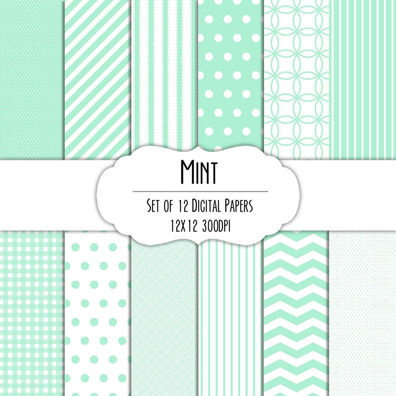 mint green digital scrapbook paper 12x12 pack set of 12. Black Bedroom Furniture Sets. Home Design Ideas