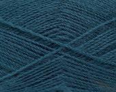 Dark Teal - Angora/Acrylic Sock Knitting Yarn, 100 grams