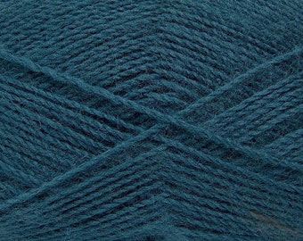 Dark Teal - Angora/Acrylic Sock Knitting Yarn, 100 grams