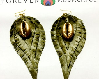 BeLeaf ( Genuine Handmade Leather Earrings) -FREE Gift w/ Purchase