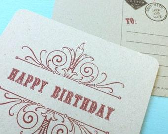 10 Vintage Style Happy Birthday Postcards