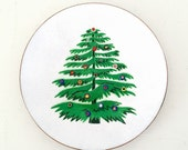 Gorgeous Enamel Copper Plate .  CHRISTMAS TREE . Annemarie Davidson . Sierra Madre California