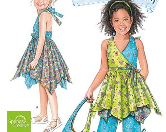 Daisy Kingdom Fashions for Girls - Simplicity 2431 - Out of Print Designer Sewing Pattern, Sizes 3, 4, 5, 6, 7, and 8