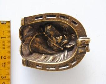 Horse Ashtray or brass ornament