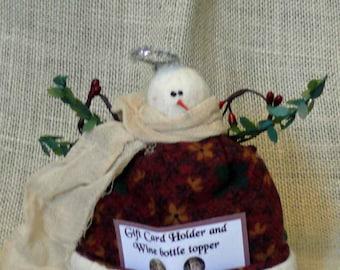 Angel Wine Bottle Topper/ Gift Card Holder