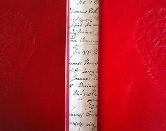 I love you. Red leather journal
