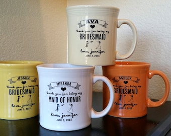 Bridesmaid or Maid Of Honor Custom Mug Thank You Gift
