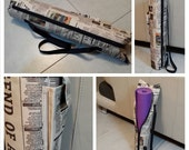 Yoga Mat Bag  with Zipper and with Pocket , Waterproof Newspaper Fabric Bag , Gift Idea, Unisex