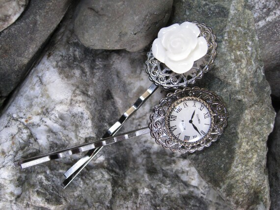 Time in Paris Gunmetal Bobby Pins