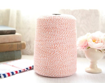 25 Yards ORANGE Baker's Twine, FREE SHIPPING with another purchase, String Twine, Bakers Twine, Holiday, Gift, Packaging Twine