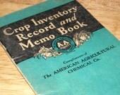 Cool vintage 1931 Crop Inventory Record & Memo Book