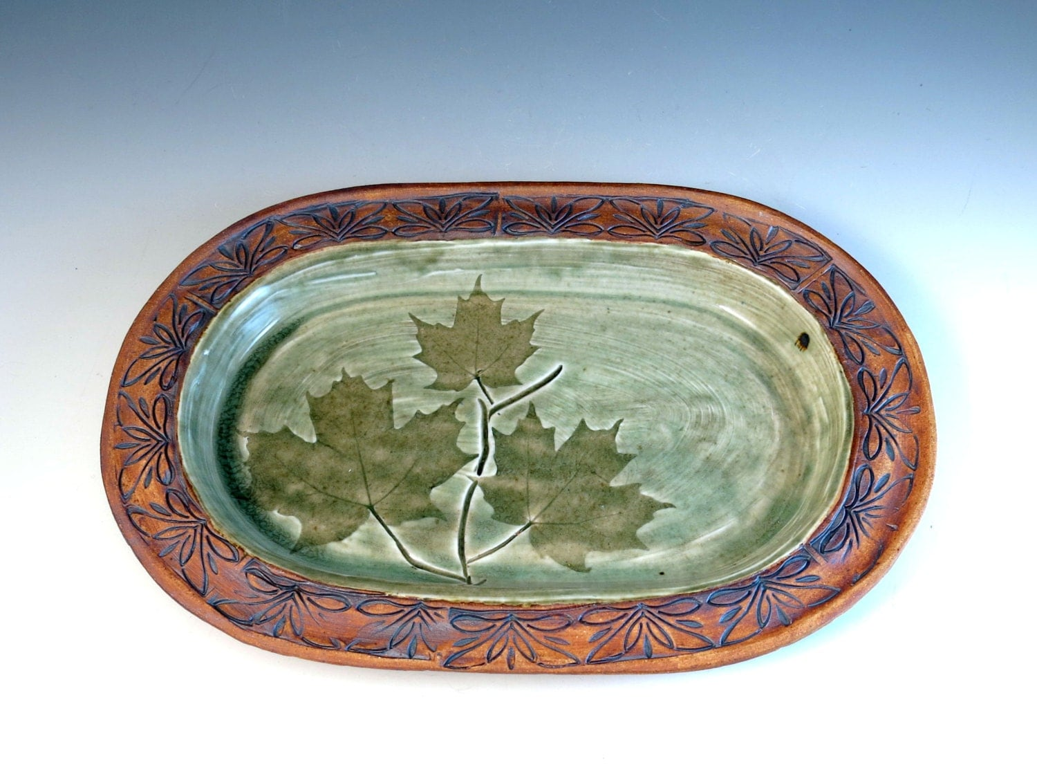 Decorative Ceramic Plate Handmade Pottery By Botanic2ceramic