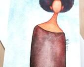 African American 'A Sense of Self' Greeting Card