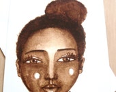 African American 'Little Brown' Greeting Card