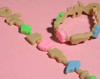 Kawaii Creepy Crunch Cereal Bracelet - Creepy Cute -Ghoulish Graveyard Mix