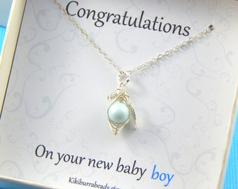 Baby Boy Gift,New Mother Necklace,Mothers Necklace,New Mother Gift,Baby Shower Gift, Christening Gift,Mothers Day Gift