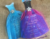 Custom Listing for Sarah - Elsa and Anna Frozen die-cut dress digital file - birthday invitation - Instant Download
