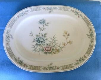 Vintage Versatone China Platter by Noritake.  This Item is on Clearance. Pattern Santiago, Noritake China Platter