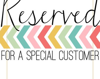 RESERVED - 12 Printed Invitations
