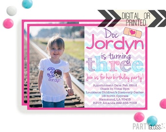 Doctor Kid Party Invitation - Digital or Printed