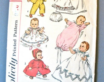 """1950's Simplicity 1844  Vintage Sewing Pattern Wardrobe for Betsy Wetsy and Tiny Tears Dolls   Size 16"""""""