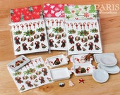 Christmas Transfer / Decal Kit - 22 Images (Includes Plate!) - Decorate your plates!