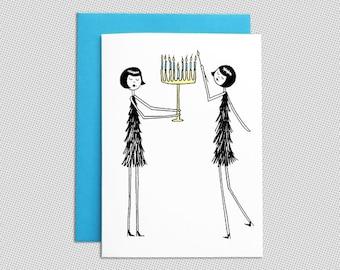 Hanukkah Card // Menorah Chanukah card
