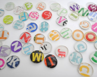 grab bag of large magnets 30 count- made from recycled magazines, office, organize, calendar, letters, colorful