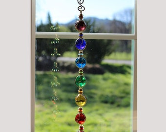 Large Chakras Suncatcher LARGE SPHERE Meditation Piece Limited Edition