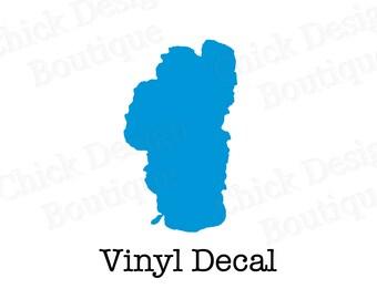 Lake Tahoe Silhouette Vinyl Decal