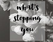 What's Stopping You, Black And White Ranunculus Art Print, Ranunculus Wall Art, Printable Art, Home Decor, Minimal, Digital Download
