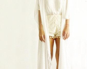 SALE Wildflower White Kimono
