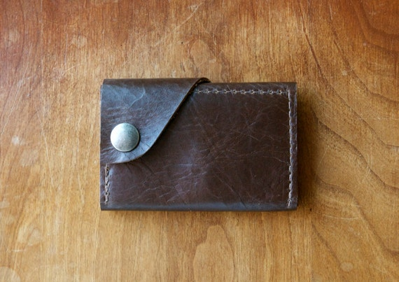 "Leather Wallet ""The Dave"" in Chocolate Espresso"