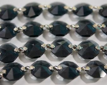 1 Yard (3 ft.) Chandelier Crystals Bead Garland Chain - Smoke -  (S-19)