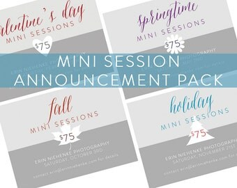 Mini Session Four Pack Digital Photoshop Templates